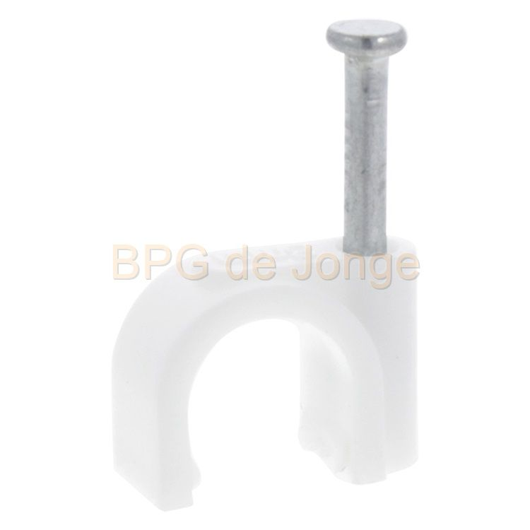 QL kabelclip rond 6mm wit