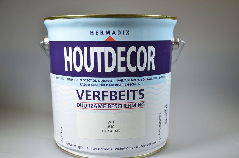 HOUTDECOR 619 WIT 2500 ML
