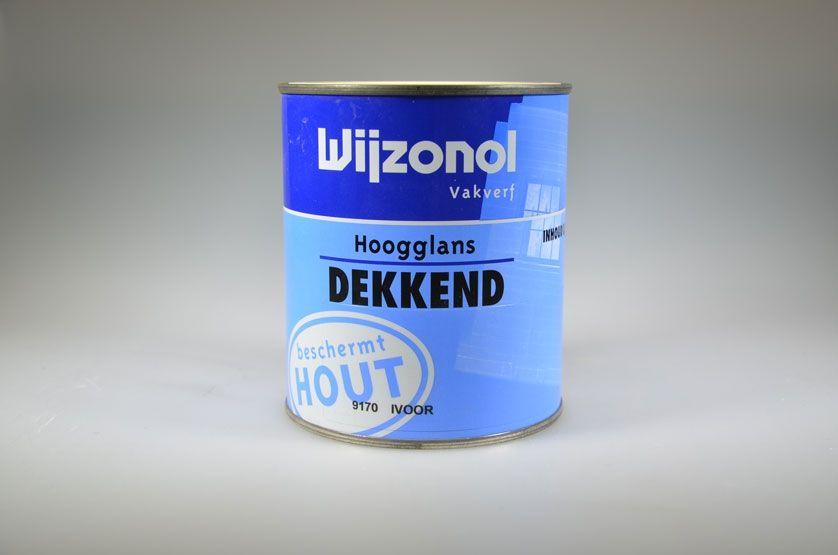 Wijzonol lak hoogglans wit dekkend 750 ml t