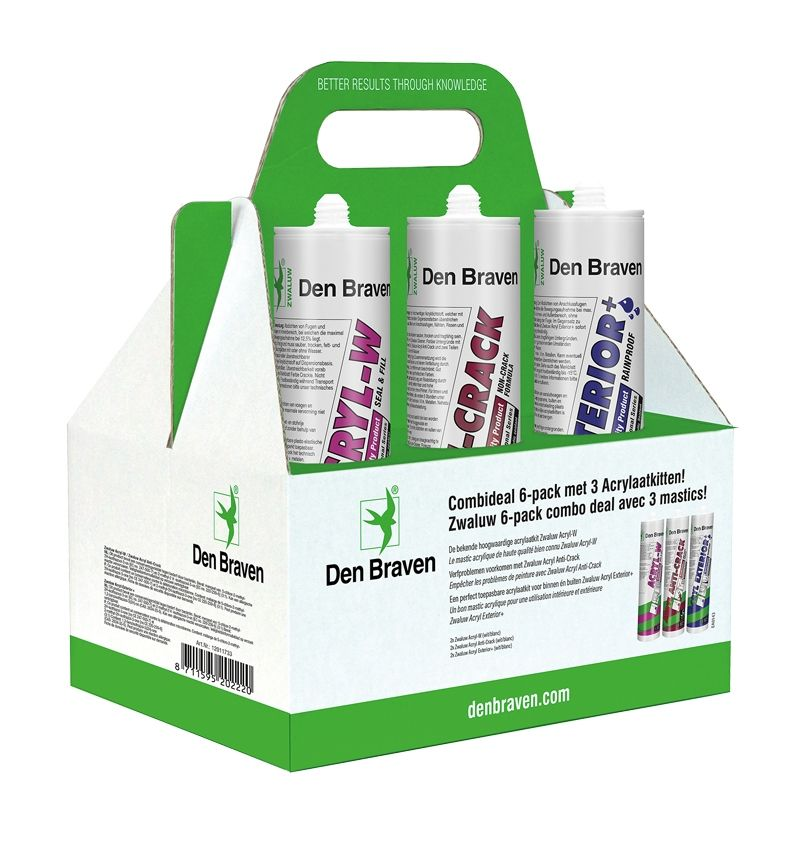 Zwaluw Acrylaat wit 6-pack